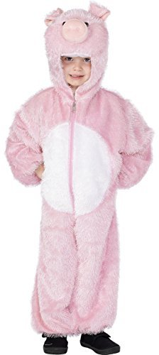 Pig Costume, Pink, includes Jumpsuit with Hood -  (Size: Medium Age 7-9)