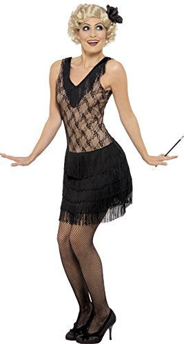 All That Jazz Costume, Black, Dress and Hair Piece -  (Size: UK Dress 8-10)