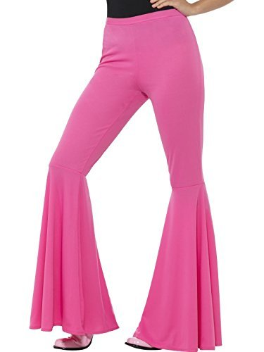 Flared Trousers, Ladies, Pink -  (Size: UK Dress 8-14)