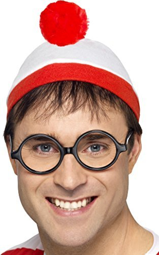 Where's Wally? Instant Kit, Red & White, with Hat & Glasses