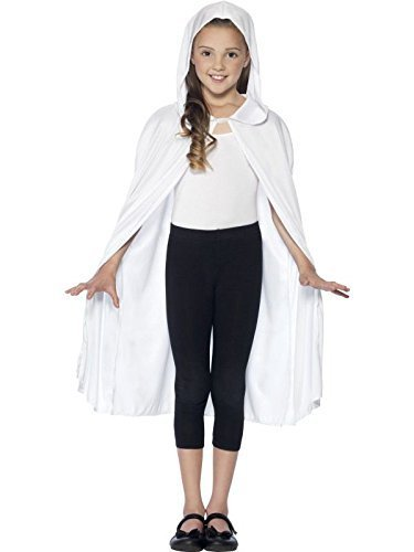 Hooded Cape, White, Long