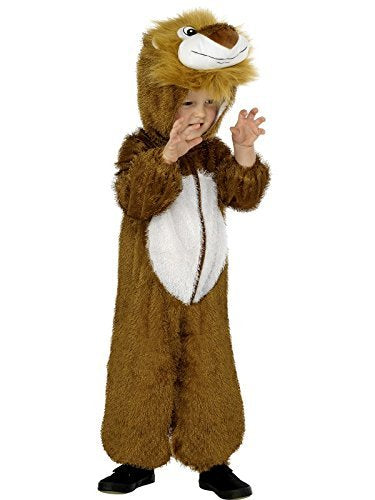 Lion Costume, Brown, includes Jumpsuit with Hood -  (Size: Small Age 4-6)