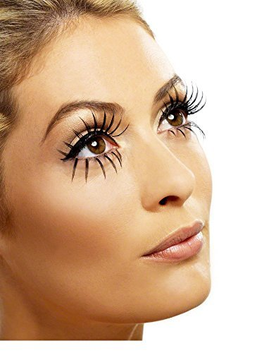 - Eyelashes, Top and Bottom Set, Long, Black, Contains Glue