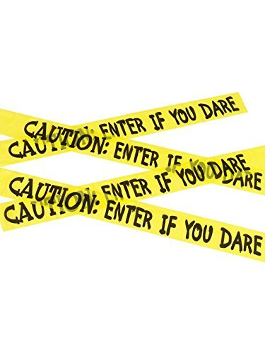 Caution Enter If You Dare Tape, Yellow & Black, 6m / 236in