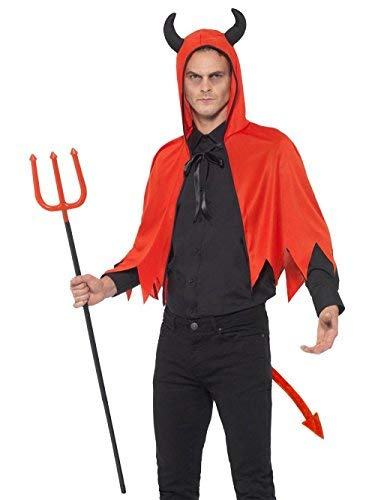 `Devil Kit, Red, with Horn Cape, Detachable Trident & Tail`