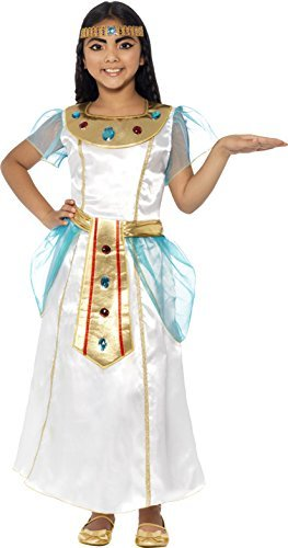 Deluxe Cleopatra Girl Costume, with Dress &  Headpiece -  (Size: Large Age 10-12)