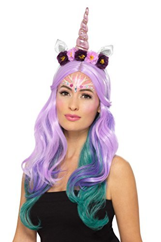 `Unicorn Cosmetic Kit, Aqua, Multi-Coloured, 2 colours, Glitter, Shimmer, 9 Gems, Sponge, Brush`