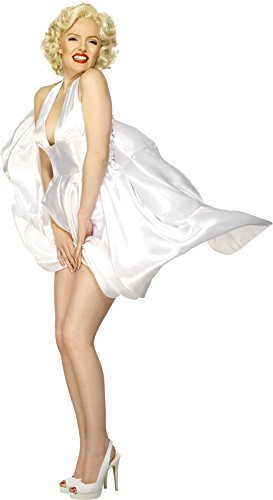 Marilyn Monroe Classic Costume, White, with Halterneck Dress -  (Size: UK Dress 16-18)