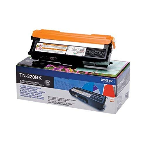 - Brother TN320BK Toner Cartridge | Standard Yield | Black | Brother Genuin