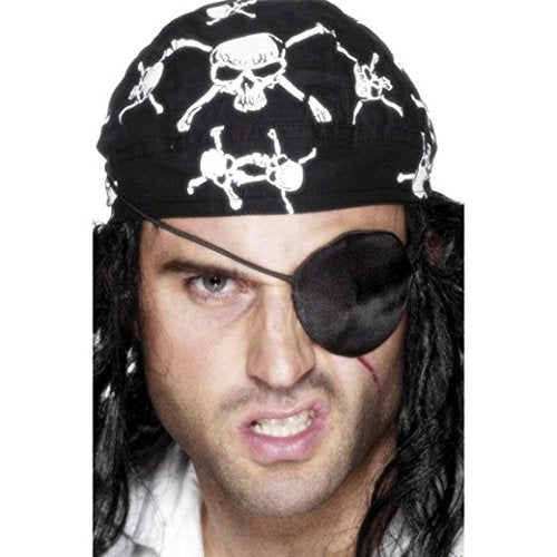 Deluxe Pirate Eyepatch, Black, Satin