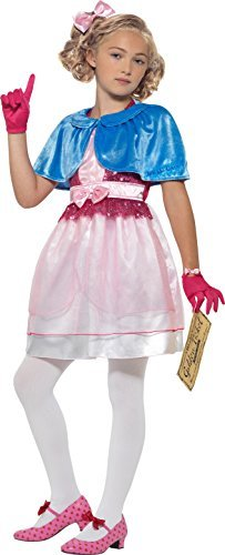 Roald Dahl Deluxe Veruca Salt Costume, Pink, Dress, Shawl, Headband, Golden Ticket & Gloves -  (Size: Large Age 10-12)