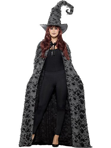 Deluxe Spellcaster Cape, Grey, Distressed, Unisex