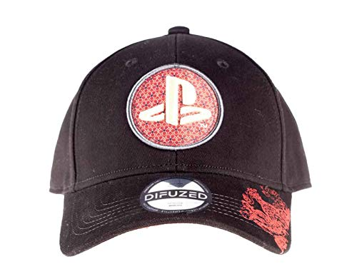 - Playstation - Biker Japanese Bow Cap PlayStation, Black (Men`s)
