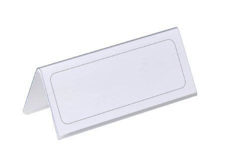 - Durable Table Name Place Holder 61X150mm Trans 805019 (PK25)