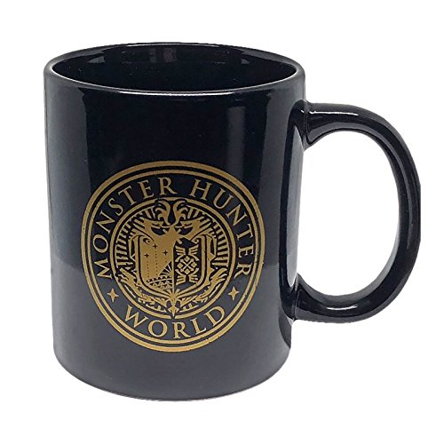 MONSTER HUNTER WORLD - Monster Hunter World Vintage Emblem Badge Mug, Unisex, 320Ml, Black (Mug001Mhw)