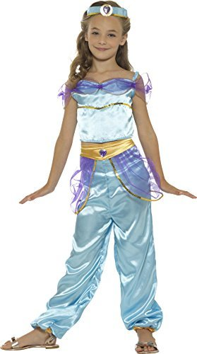 Arabian Princess Costume, Blue, with Top, Trousers & Headpiece -  (Size: Small Age 4-6)