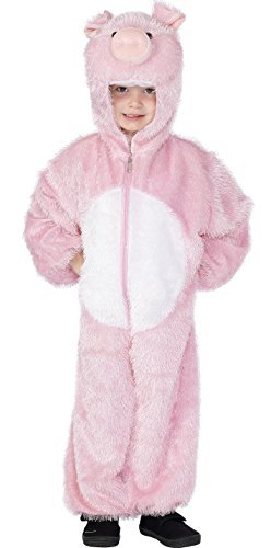 Pig Costume, Pink, includes Jumpsuit with Hood -  (Size: Small Age 4-6)