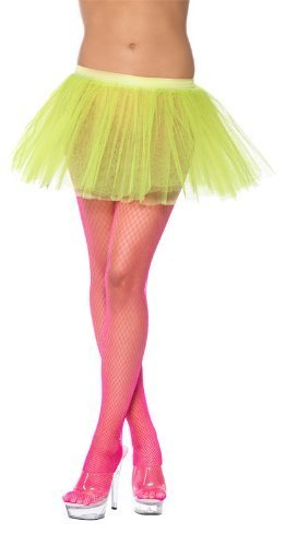 Tutu Underskirt, Neon Yellow, 4 Layers, 30cm Long -  (Size: UK Dress Size 6-18)