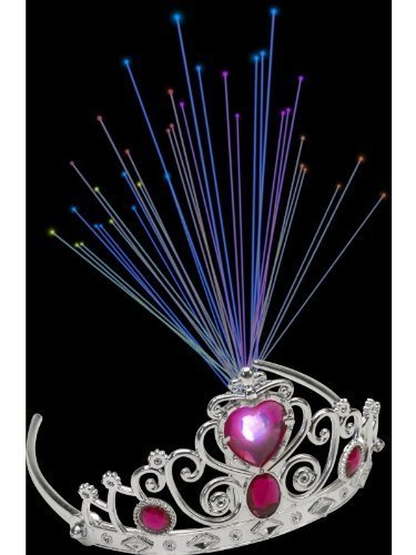 Light Up Fibre Optic Tiara, Pink Je
