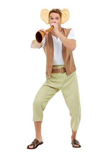 Roald Dahl The BFG Costume, Brown, Top, Trousers, Dream Trumpet & Ears on Headband -  (Size: Chest 42`-44`, Leg Inseam 33`)