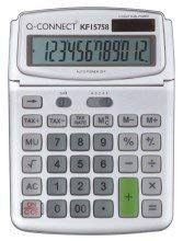 - Qconnect Large Table Top 12Dig Calc Grey