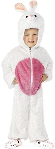 Bunny Costume, White, includes Jumpsuit with Hood -  (Size: Small Age 4-6)