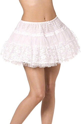 Fever Deluxe Lace Petticoat, White -  (Size: UK Dress Size 6-18)