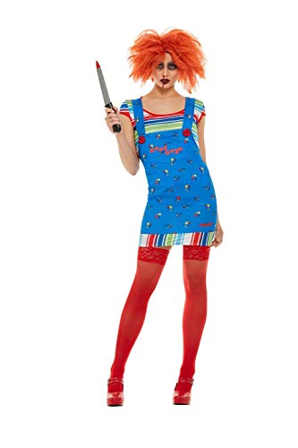 Chucky Costume, Blue, with Top & Short Dungaree Dress -  (Size: UK Dress 12-14)