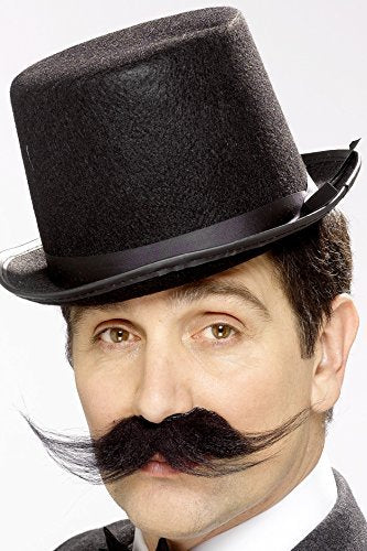 Tales of Old England Investigator Tash, Black, Bushy, Self Adhesive