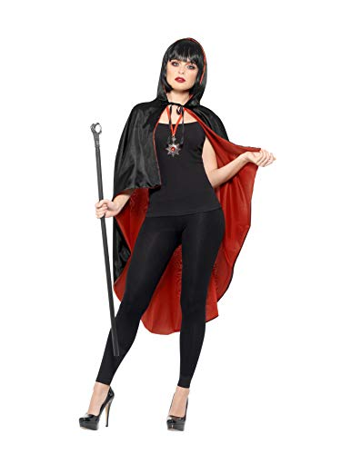 Vampire Kit, with Reversible Cape, Black Detachable Cane & Metal Medallion