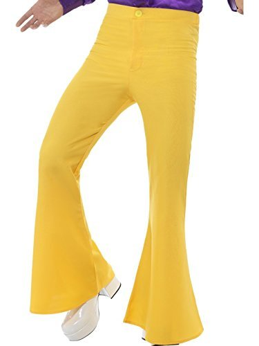"Flared Trousers, Mens, Yellow -  (Size: Chest 46""-48"")"