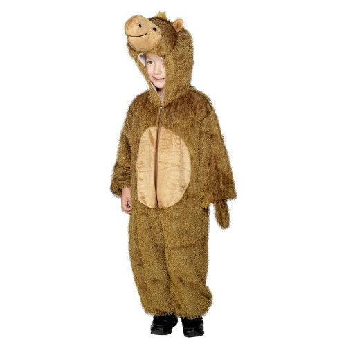 Camel Costume, Brown, with Hooded All in One -  (Size: Medium Age 7-9)