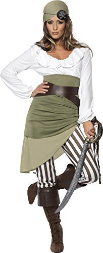 Shipmate Sweetie Costume, Green, Top, Skirt, Leggings, Bandana, Belt and Bootcuffs -  (Size: UK Dress 16-18)