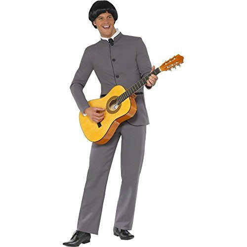 "Fab Four Iconic Costume, Grey, with Jacket and Trousers -  (Size: Chest 38""-40"", Leg Inseam 32.75"")"