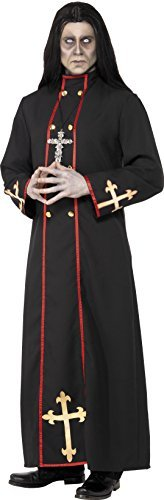 "Minister of Death Costume, Black, with Robe -  (Size: Chest 38""-40"", Leg Inseam 32.75"")"