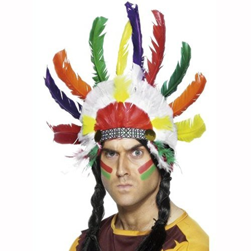 Native American Inspired Headdress, Multi-Coloured, Sitting Bull