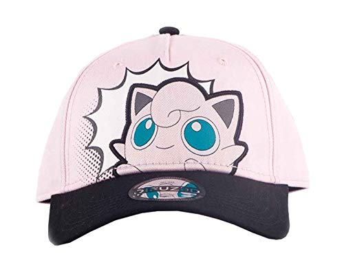 - PokTmon -  Jigglypuff PopArt Adjustable Cap PokTmon, Black (Men`s)