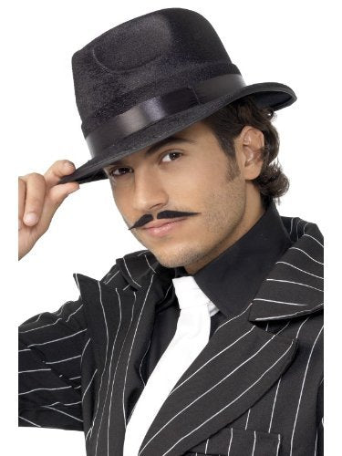 Indestructible Fedora Hat, Black, with Silk Band