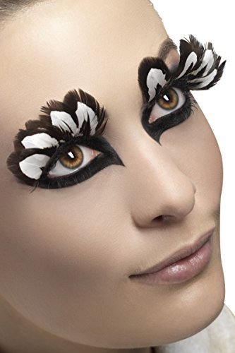 Eyelashes, Feather, Brown, Contains Glue