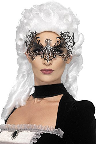 Black Widow Web Eyemask, Metal Filigree