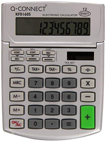 - Q Connect Calculator Semi Desk 12 Digit