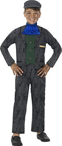 Horrible Histories Miner Costume, Grey, with Top, Trousers, Cravat & Hat -  (Size: Large Age 10-12)