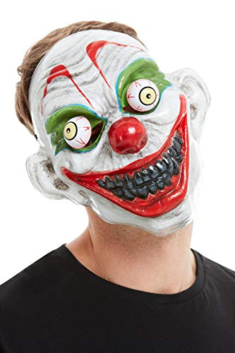 - Clown Mask, White, PVC, with Moving Eyes