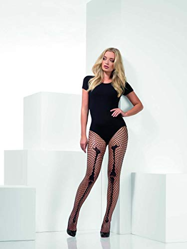 Skeleton Bone Net Tights, Black -  (Size: UK Dress Size 6-18)