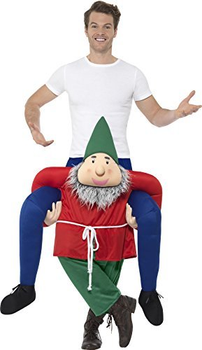 Piggyback Gnome Costume, Green, One Piece Suit with Mock Legs