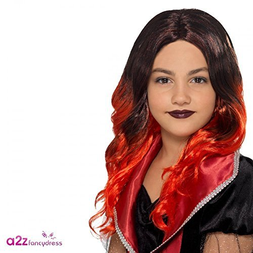 - Kids Witch Wig, Black & Red