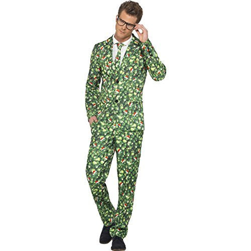 "Brussel Sprout Suit, with Jacket, Trousers & Tie -  (Size: Chest 46""-48"")"
