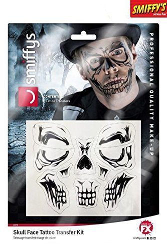 Skull Face Tattoo Transfer, 50