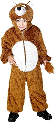 Fox Costume, Brown, includes Jumpsuit with Hood -  (Size: Medium Age 7-9)