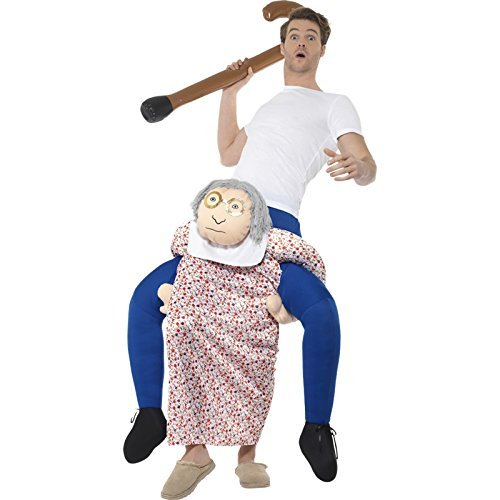 Piggyback Grandma Costume, Multi-Coloured, One Piece Suit with Mock Legs